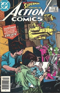 Cover Thumbnail for Action Comics (DC, 1938 series) #554 [newsstand]
