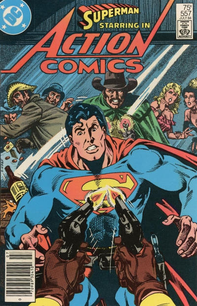 Cover for Action Comics (DC, 1938 series) #557 [Direct Edition]