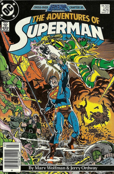 Cover for Adventures of Superman (DC, 1987 series) #426 [Direct]