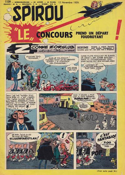 Cover for Spirou (Dupuis, 1947 series) #1126