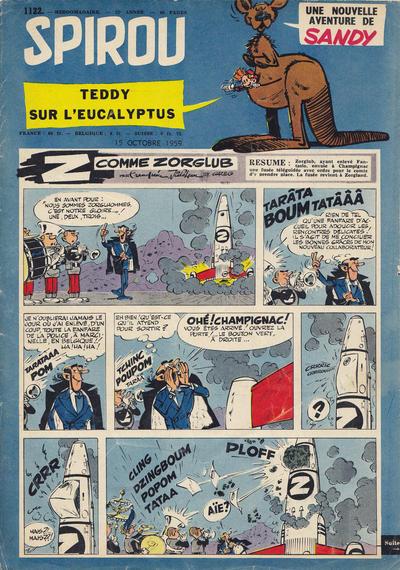 Cover for Spirou (Dupuis, 1947 series) #1122