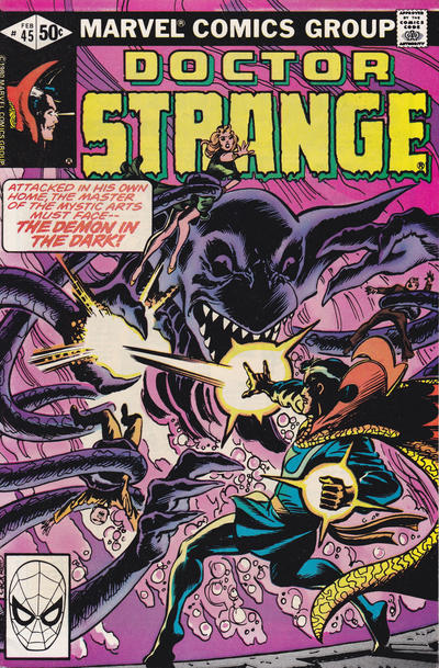 Cover for Doctor Strange (Marvel, 1974 series) #45 [Direct Edition]