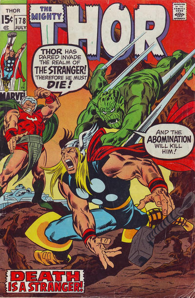Cover for Thor (Marvel, 1966 series) #178 [British]