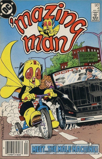 Cover for 'Mazing Man (DC, 1986 series) #4 [Direct Sales]