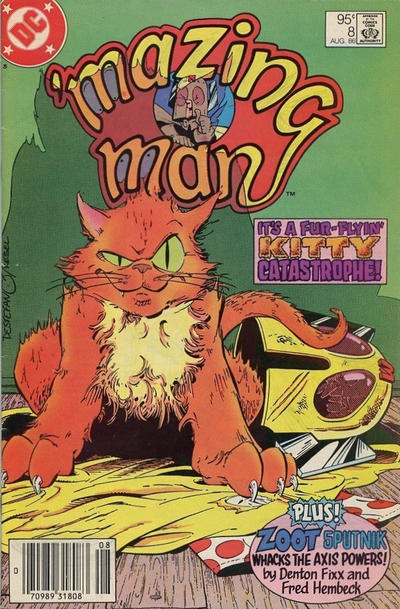 Cover for 'Mazing Man (DC, 1986 series) #8 [Direct Sales]