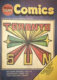 Cover Thumbnail for Sunday Sun Comics (Toronto Sun, 1977 series) #v3#1