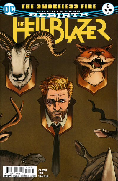 Cover for Hellblazer (DC, 2016 series) #8 [Yasmine Putri Cover Variant]