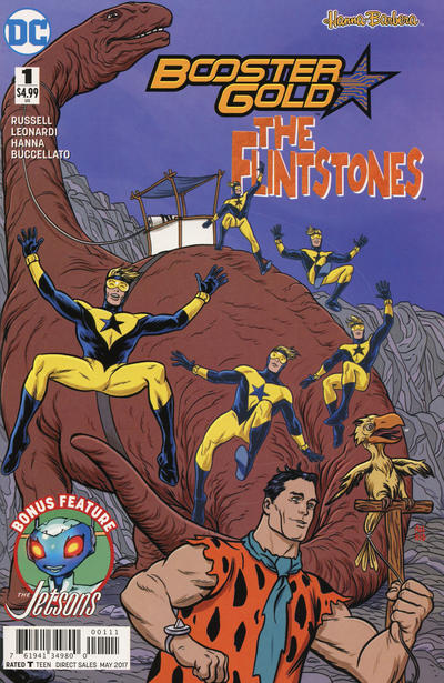 Cover for Booster Gold / The Flintstones Special (DC, 2017 series) #1