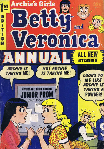 Cover for Archie's Girls, Betty and Veronica Annual (Archie, 1953 series) #1 [Canadian edition]
