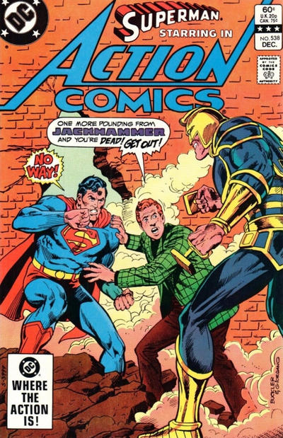 Cover for Action Comics (DC, 1938 series) #538 [Direct Sales]