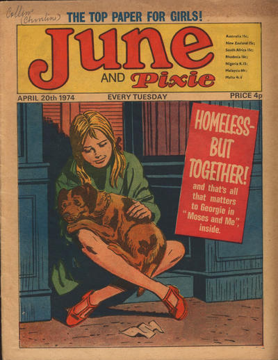 Cover for June and Pixie (IPC, 1973 series) #20 April 1974