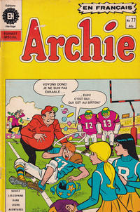 Cover Thumbnail for Archie (Editions Héritage, 1971 series) #77