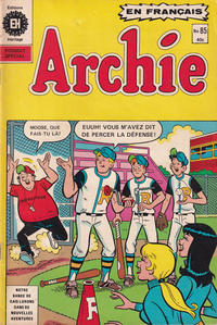Cover Thumbnail for Archie (Editions Héritage, 1971 series) #85