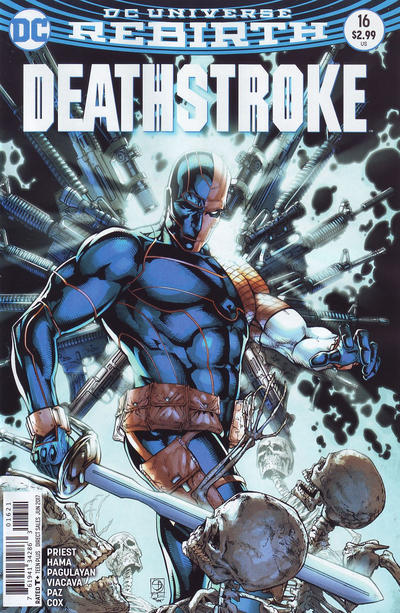 Cover for Deathstroke (DC, 2016 series) #16 [Bill Sienkiewicz Cover Variant]