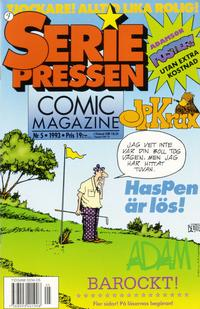 Cover Thumbnail for Seriepressen (Formatic, 1993 series) #5/1993