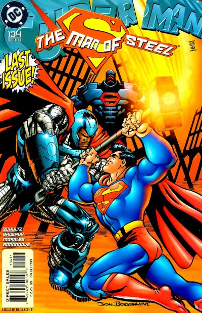Cover for Superman: The Man of Steel (DC, 1991 series) #134 [Direct Edition]
