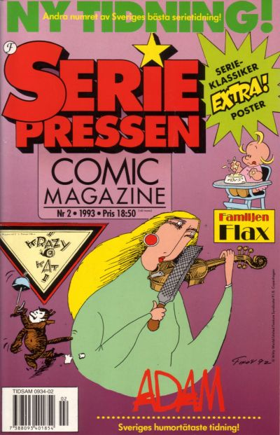 Cover for Seriepressen (Formatic, 1993 series) #2/1993