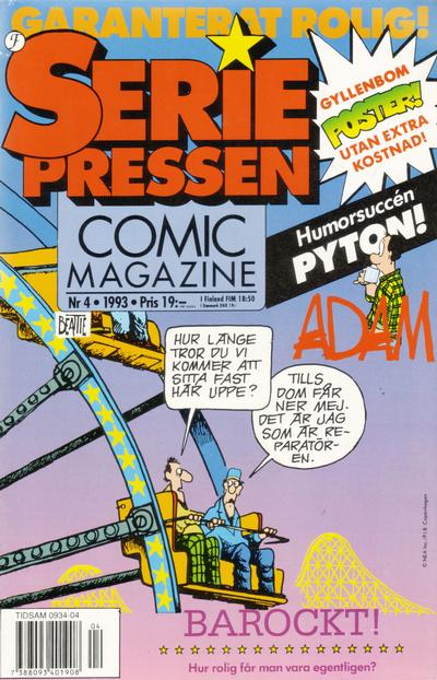 Cover for Seriepressen (Formatic, 1993 series) #4/1993