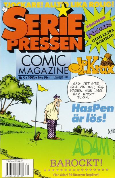Cover for Seriepressen (Formatic, 1993 series) #5/1993