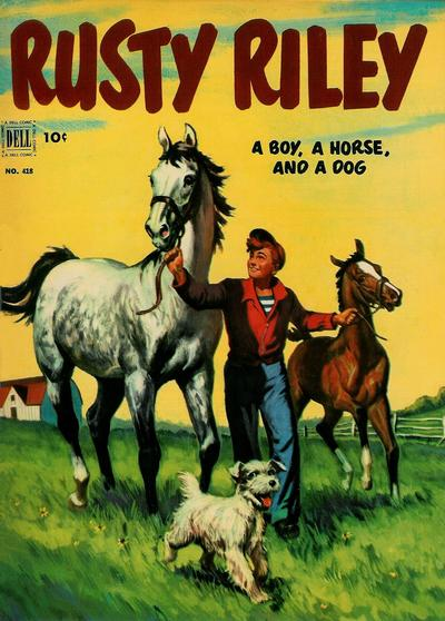 Cover for Four Color (Dell, 1942 series) #418 - Rusty Riley, a Boy, a Horse, and a Dog