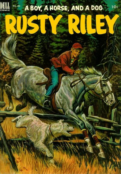 Cover for Four Color (Dell, 1942 series) #451 - Rusty Riley, a Boy, a Horse, and a Dog
