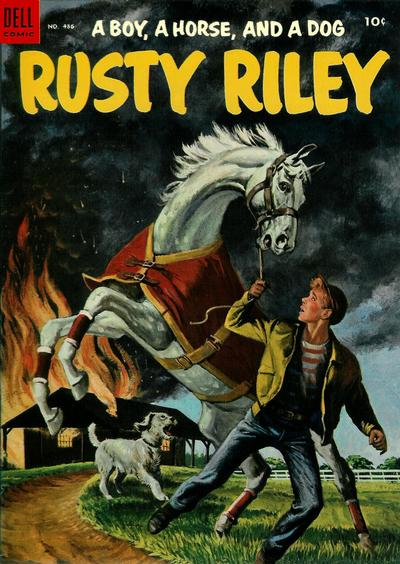 Cover for Four Color (Dell, 1942 series) #486 - Rusty Riley, a Boy, a Horse, and a Dog