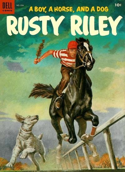 Cover for Four Color (Dell, 1942 series) #554 - Rusty Riley, a Boy, a Horse, and a Dog