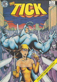 Cover Thumbnail for The Tick (New England Comics, 1988 series) #3 [Second Printing]