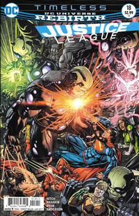 Cover Thumbnail for Justice League (DC, 2016 series) #18 [Fernando Pasarin & Matt Ryan Cover Variant]
