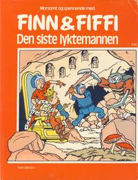 Cover Thumbnail for Finn & Fiffi (Skandinavisk Presse, 1983 series) #5/1985 - Den siste lyktemannen