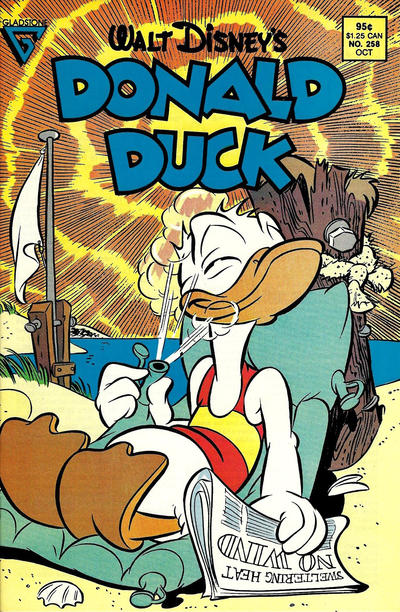 Cover for Donald Duck (Gladstone, 1986 series) #258 [Direct]