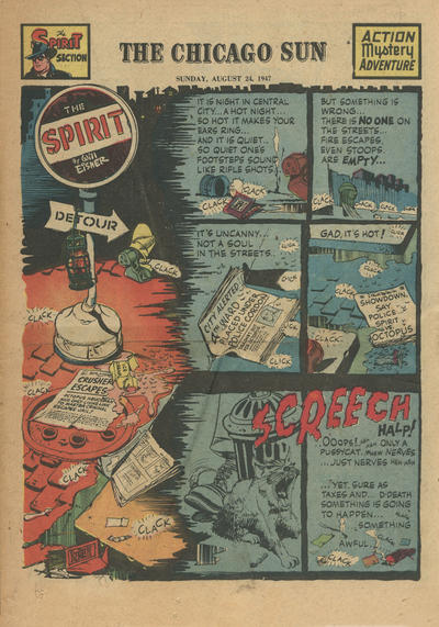 Cover for The Spirit (Register and Tribune Syndicate, 1940 series) #8/24/1947