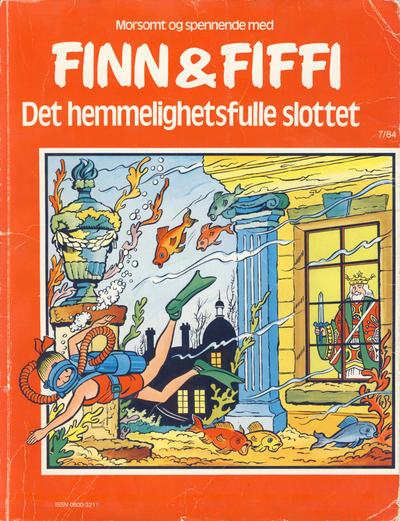 Cover for Finn & Fiffi (Skandinavisk Presse, 1983 series) #7/1984 - Det hemmelighetsfulle slottet