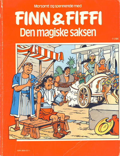 Cover for Finn & Fiffi (Skandinavisk Presse, 1983 series) #11/1984 - Den magiske saksen