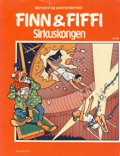 Cover for Finn & Fiffi (Skandinavisk Presse, 1983 series) #16/1984 - Sirkuskongen