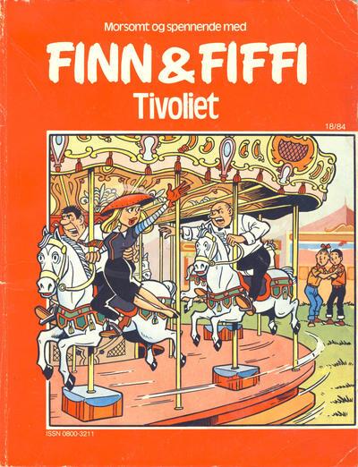 Cover for Finn & Fiffi (Skandinavisk Presse, 1983 series) #18/1984 - Tivoliet