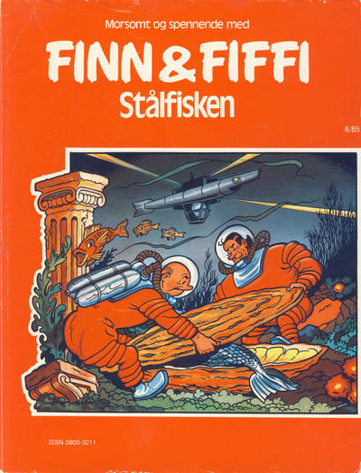 Cover for Finn & Fiffi (Skandinavisk Presse, 1983 series) #6/1985 - Stålfisken