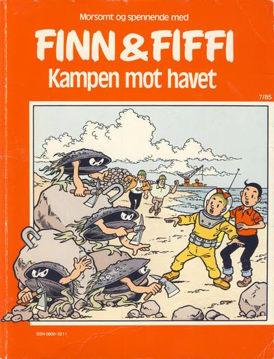 Cover for Finn & Fiffi (Skandinavisk Presse, 1983 series) #7/1985 - Kampen mot havet