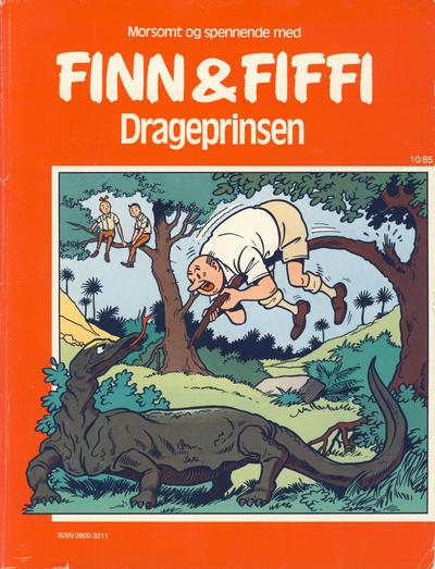 Cover for Finn & Fiffi (Skandinavisk Presse, 1983 series) #10/1985 - Drageprinsen