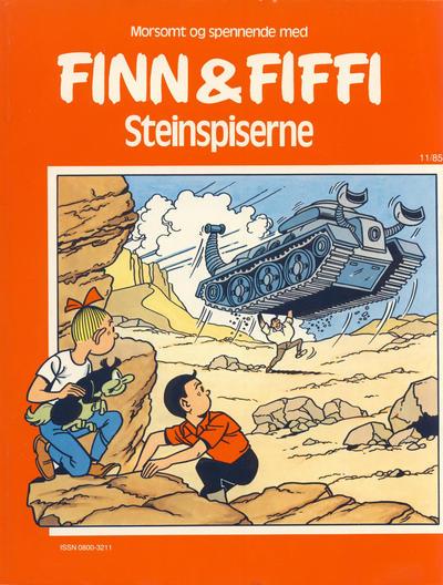 Cover for Finn & Fiffi (Skandinavisk Presse, 1983 series) #11/1985 - Steinspiserne