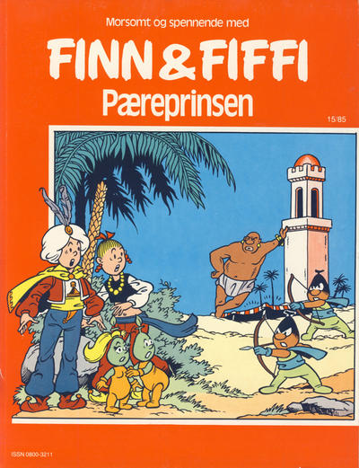 Cover for Finn & Fiffi (Skandinavisk Presse, 1983 series) #15/1985 - Pæreprinsen