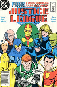 Cover Thumbnail for Justice League (DC, 1987 series) #1 [Canadian Newsstand]