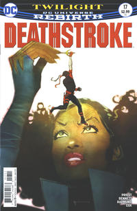Cover Thumbnail for Deathstroke (DC, 2016 series) #17 [Bill Sienkiewicz Cover Variant]