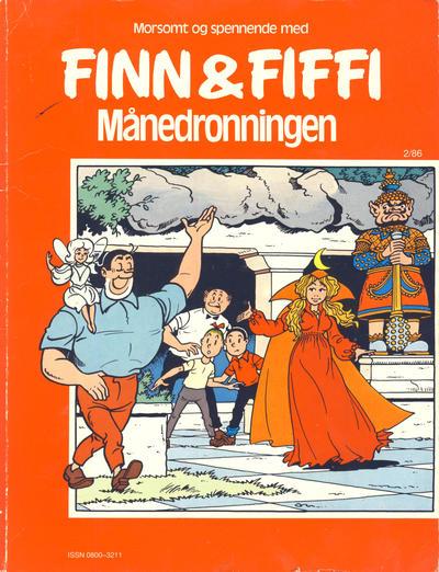 Cover for Finn & Fiffi (Skandinavisk Presse, 1983 series) #2/1986 - Månedronningen