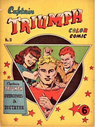 Cover for Captain Triumph Comics (K. G. Murray, 1947 series) #11