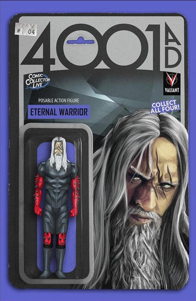 Cover for 4001 A.D. (Valiant Entertainment, 2016 series) #4 [Comic Collector Live Action Figure Variant]