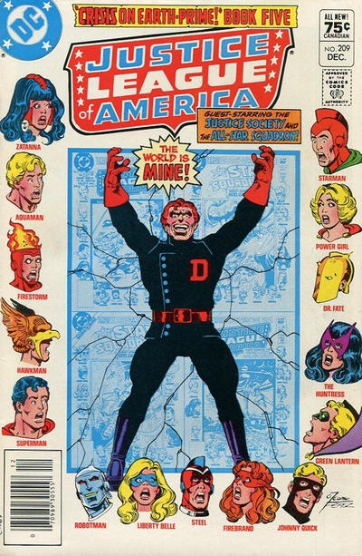 Cover for Justice League of America (DC, 1960 series) #209 [Newsstand]