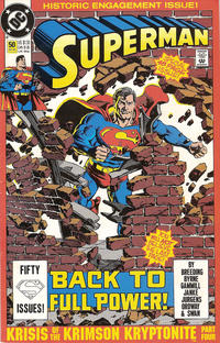 Cover Thumbnail for Superman (DC, 1987 series) #50 [2nd Printing Full Caption]
