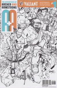 Cover Thumbnail for A&A: The Adventures of Archer & Armstrong (Valiant Entertainment, 2016 series) #1 [Cover H - David LaFuente - Black and White]
