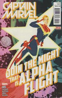 Cover Thumbnail for Captain Marvel (Marvel, 2016 series) #5